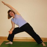 Yoga side angle pose
