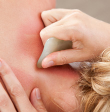 Gua sha for neck pain