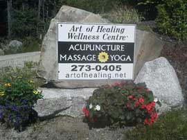 Art of Healing Wellness Sign